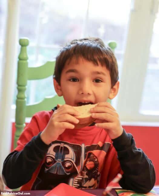 Yummy PB&J is a great kids party food idea.