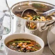 3 Bean Minestrone Soup from Prep-Ahead Meals from Scratch