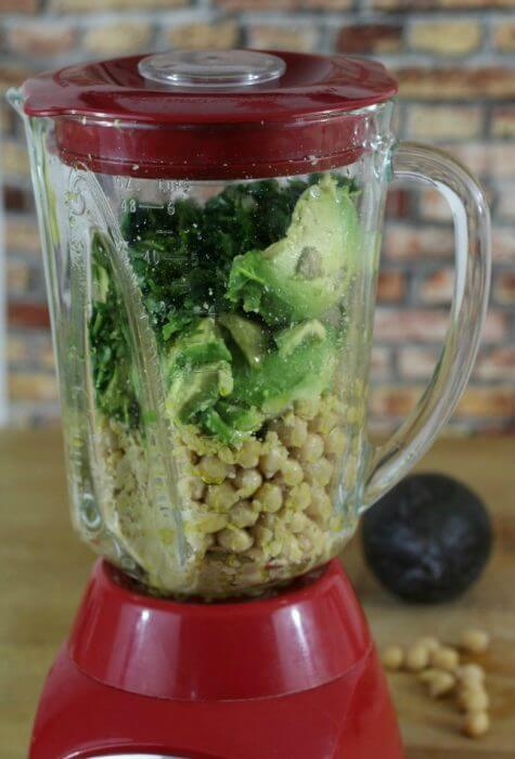 Add all the ingredients for avocado cilantro hummus in the blender