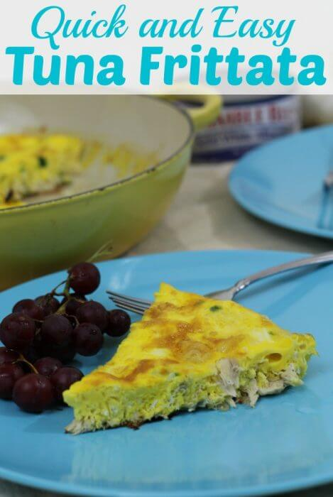 Quick Frittata Recipe with Tuna is an easy gluten-free, dairy-free dinner