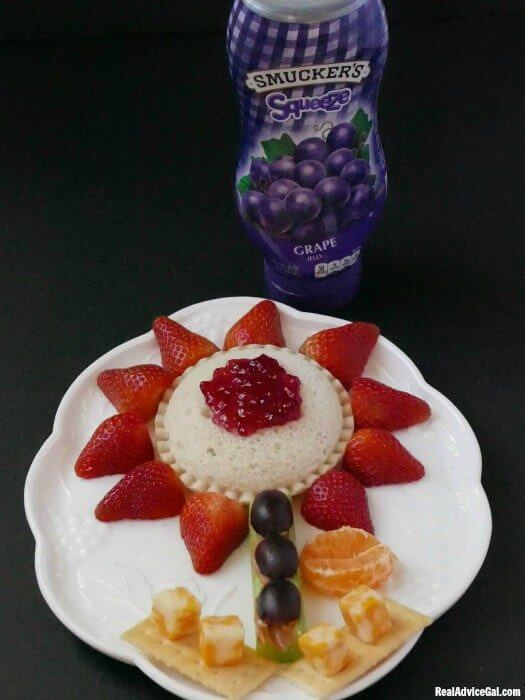 Staycation snackation with Uncrustables® Sandwiches, Jif® to Go® Peanut Butter and Smucker's® Squeeze™ Fruit Spread