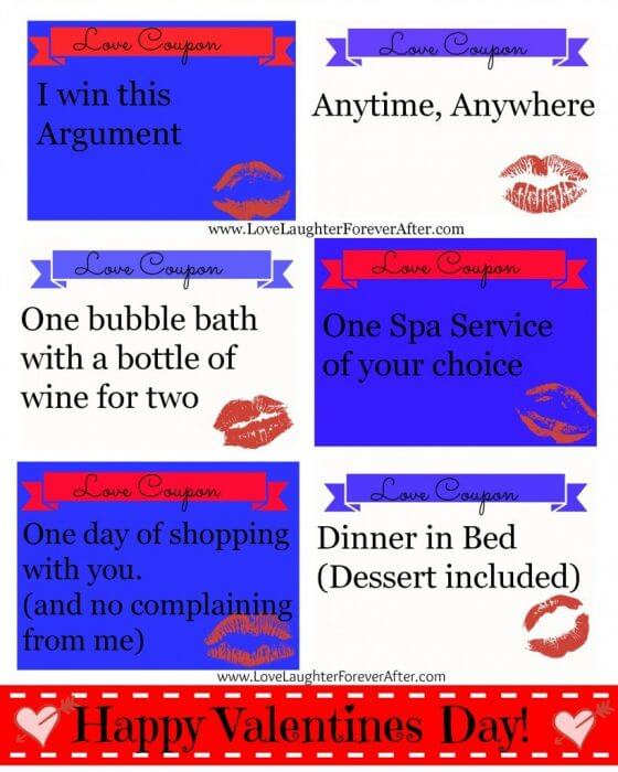 Make your own coupons for girlfriend