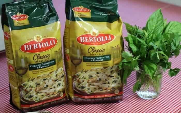 bertolli classics Chicken Florentine and farfalle