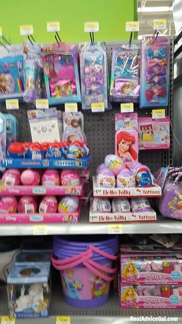 Easter gifts for children with ©Disney Princess from Walmart