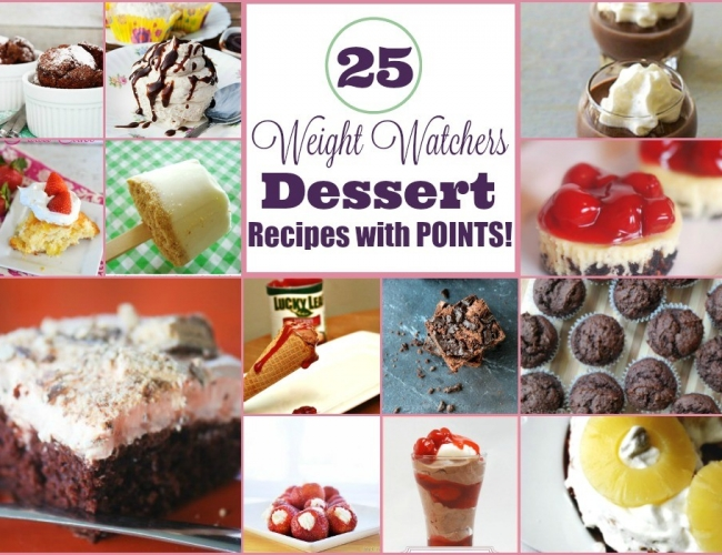 25 Weight Watchers Dessert Recipes With Points – Horizontal Collage