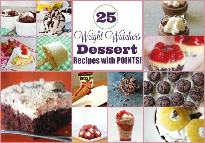 25 Weight Watchers Dessert Recipes With Points - Horizontal Collage
