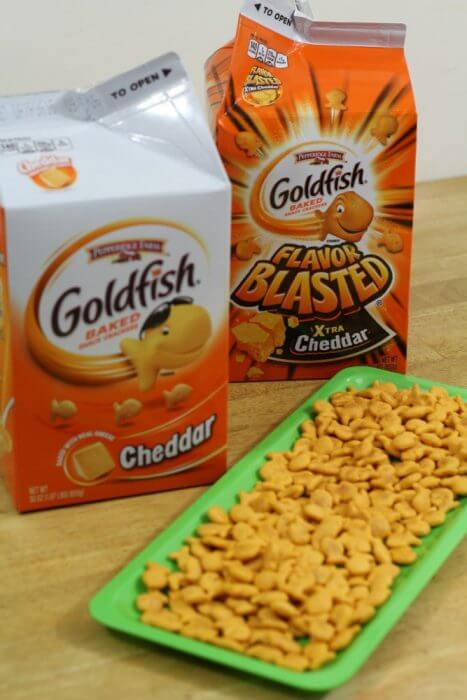 Goldfish crackers make a great anytime snack