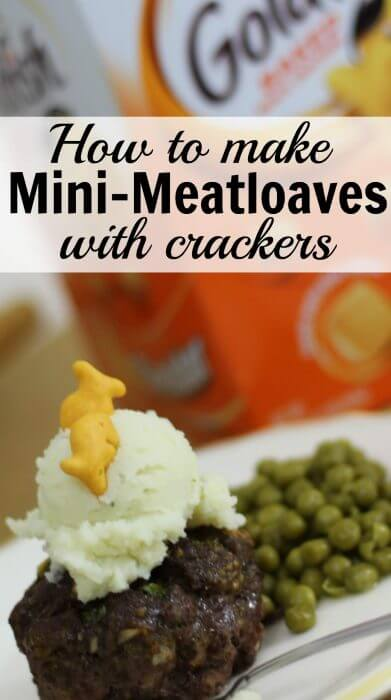 How to make mini meatloaves with Goldfish Crackers