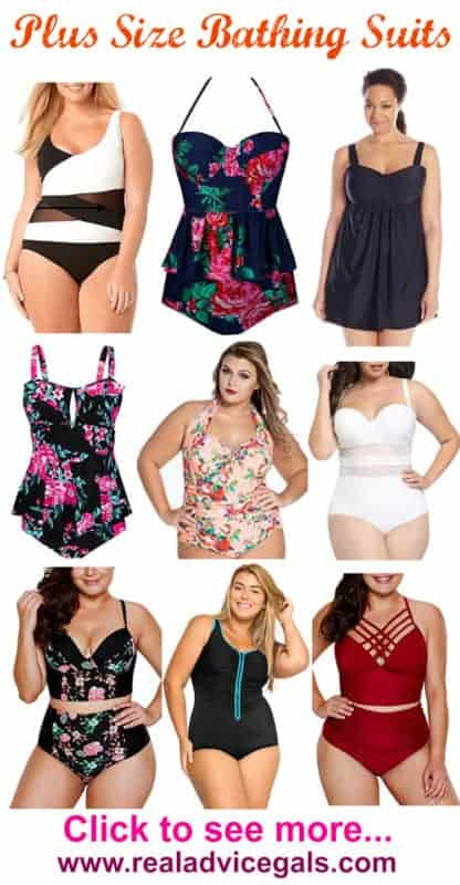 Get ready to swim with these cheap plus size bathing suits that flatters your figure.