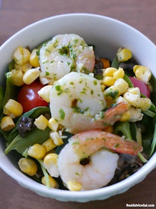 Healthy Prawn Salad Recipe with Herb Vinaigrette