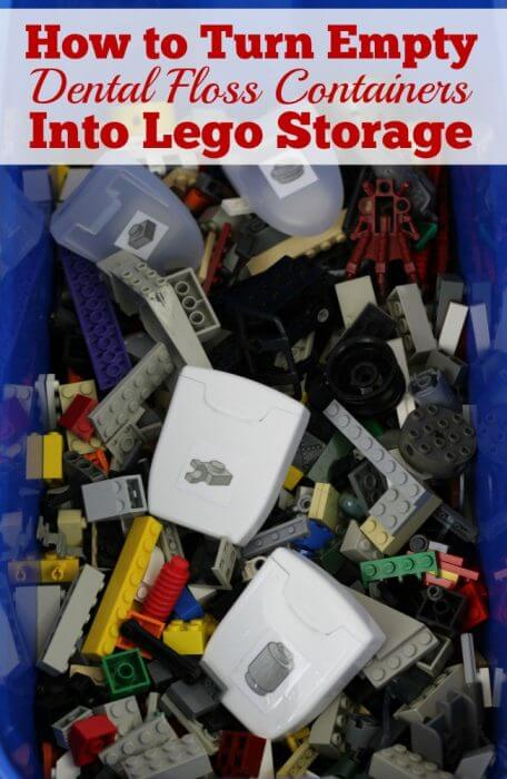 How to Turn empty Dental Floss Containers Into Lego Storage