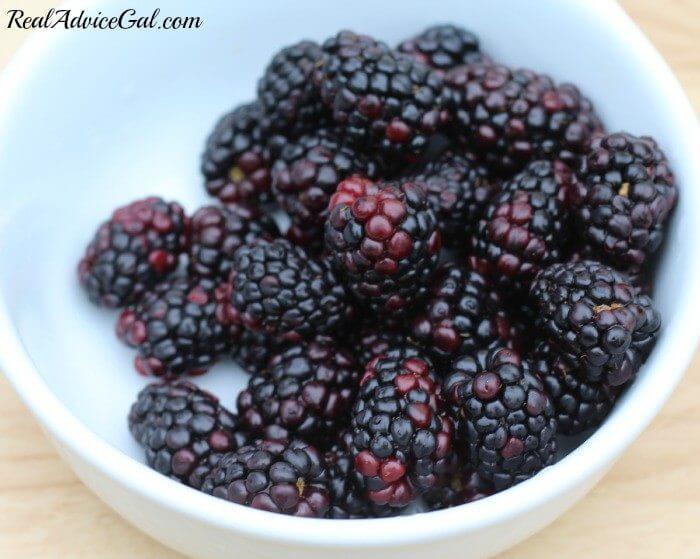 blackberries for the watermelon fruit pizza