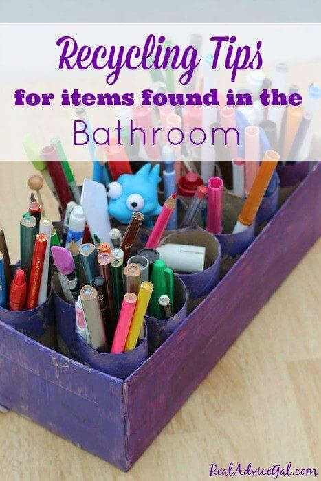 Recycling tips for items found in the bathroom