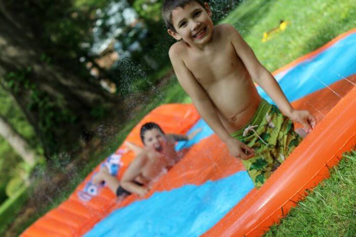 H2OGO! triple slider is the best water slide for kids