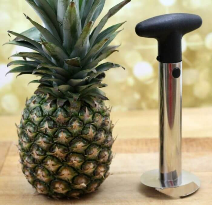 Pineapple meet the pineapple slicer and corer.