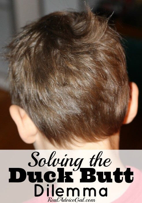Solving the duck butt dilemma with hair care tips for boys