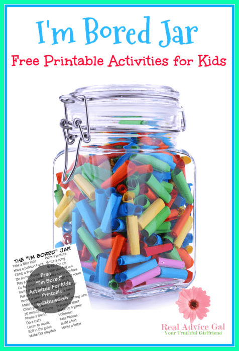 "FREE ""I'm Bored"" Jar Printable For Kids"