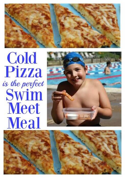 Cold pizza is the perfect swim meet meal
