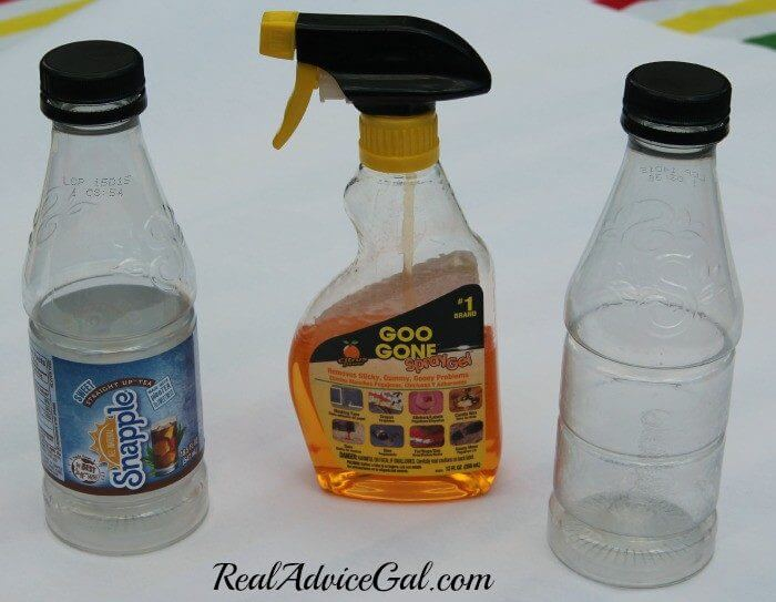Create time for you with snapple remove label and sticky residue with goo gone