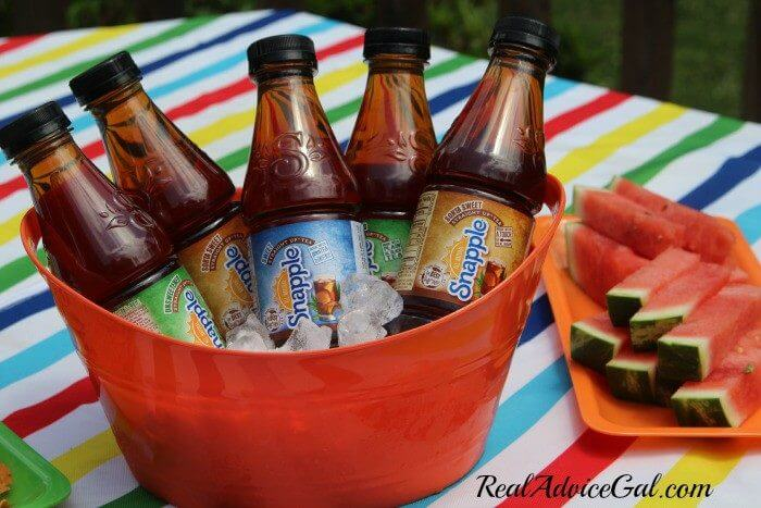 Creating time for me with snapple summer snacking