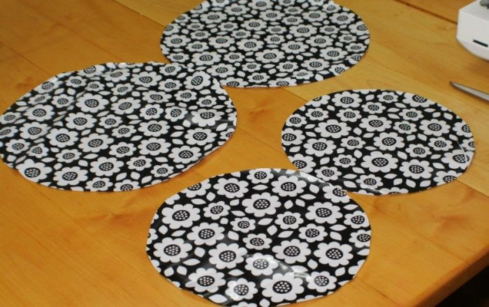 cut out the circles to make reusable bowl covers