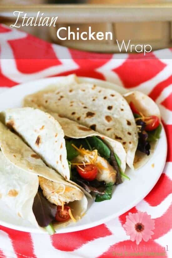 Budget Friendly Meals for Kids to Cook: Italian Chicken Wrap Recipe