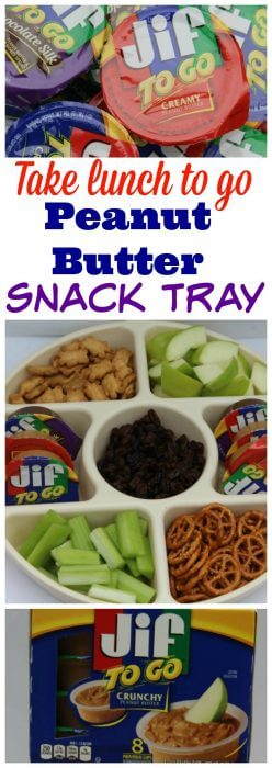 Jif To Go is a great way to serve up a fun portable healthy meal by making a peanut butter snack tray