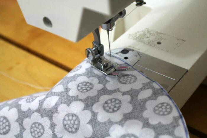 Sew the circles together leaving an inch opening so that you can turn it right side out