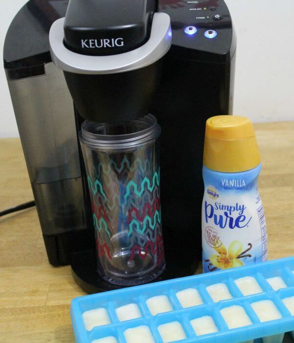 The ingredients to make the perfect iced coffee