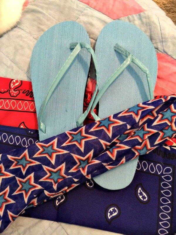 bandana flip flops diy