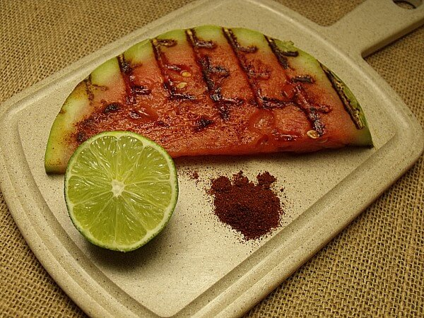 Grilled Watermelon with Lime & Hatch Chile