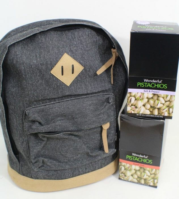 Many thanks to Wonderful Pistachios for sponsoring our annual giving back packs event 2016