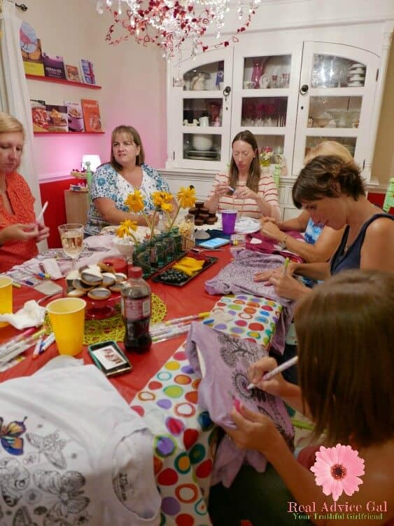 Fun Colorwear Home Party: Adult Party Idea