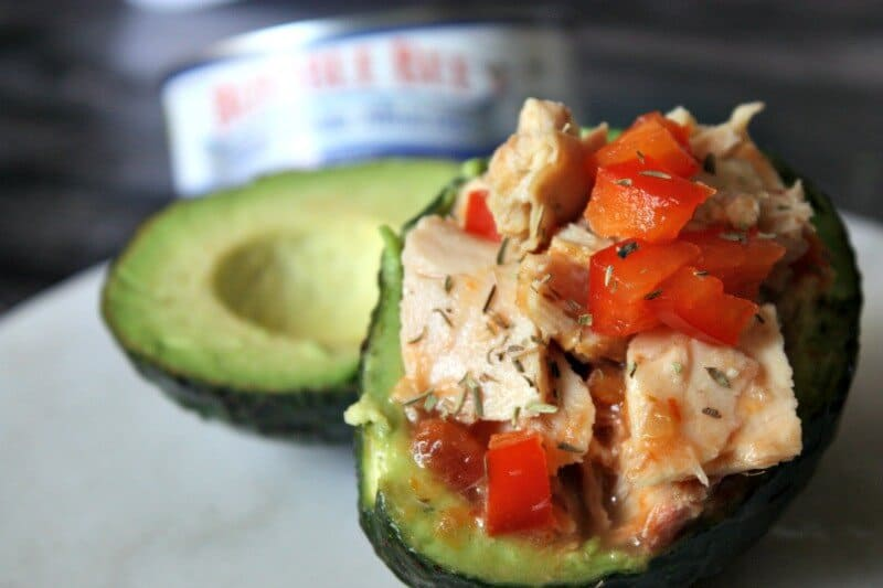 gluten free tuna stuffed avocados