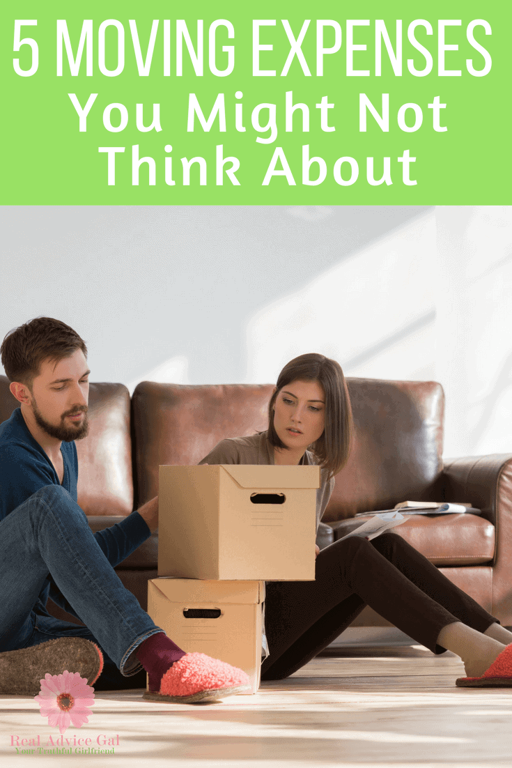 When it's time to move don't be stressed! Learn 5 common moving expenses you might not have thought of that you need to know!