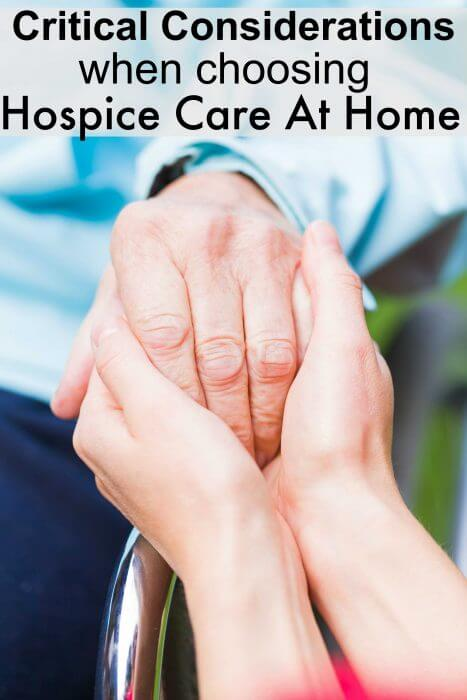Critical Considerations When Choosong Hospice Care At Home