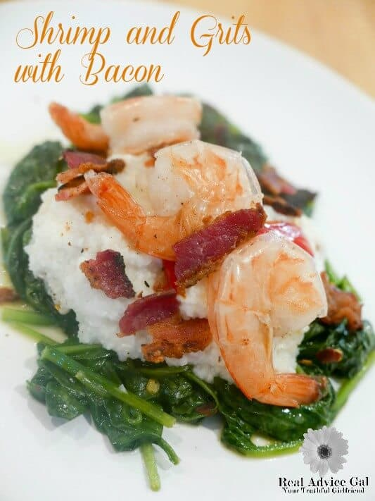 Shrimp and Grits with Spinach and Bacon Recipe