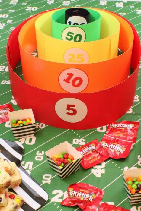A Skittles Tossing game is a great way to add some fun to your football watching party