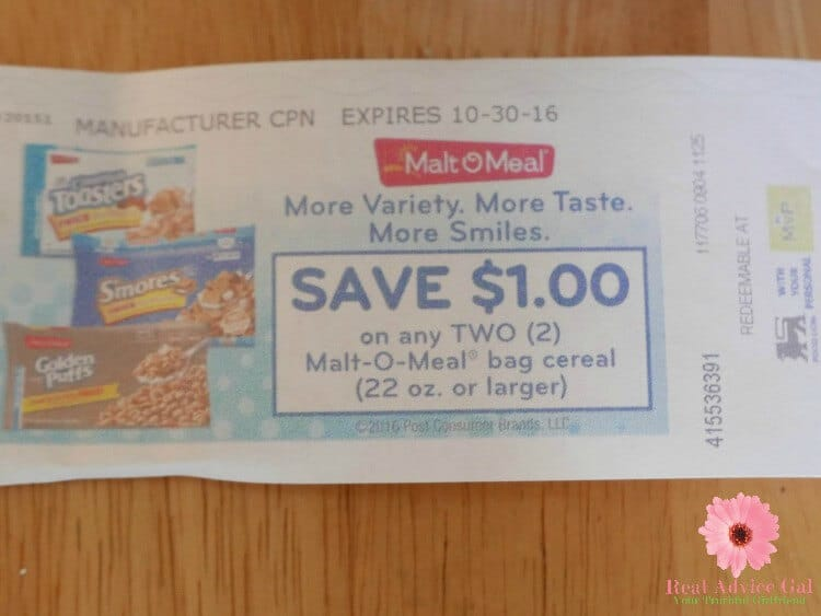 Malt-O-Meal® cereal coupon