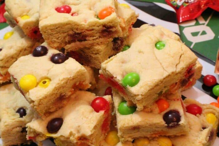 Cool completely and cut the sugar cookie bars into squares