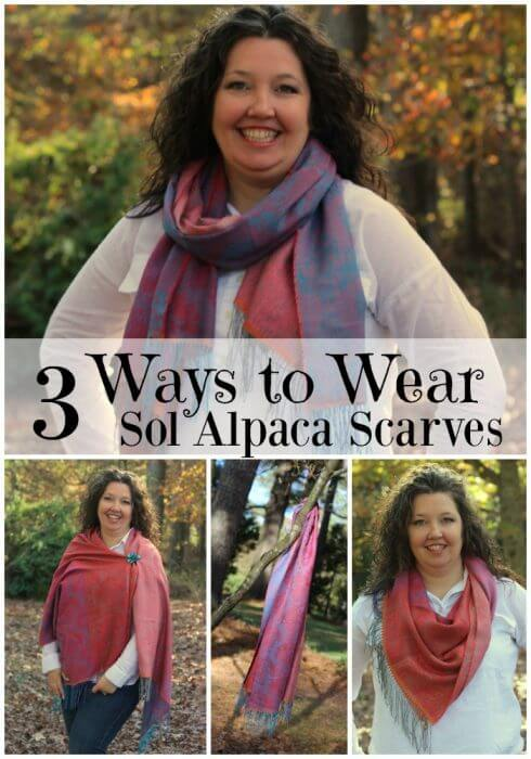 3 ways to wear sol alpaca scarves