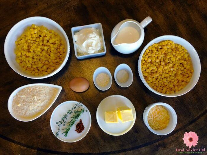 Homemade Cornbread Pudding Recipe Ingredients