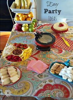 Host a fun and delicious party for friends and family. Check out my easy fondue party ideas