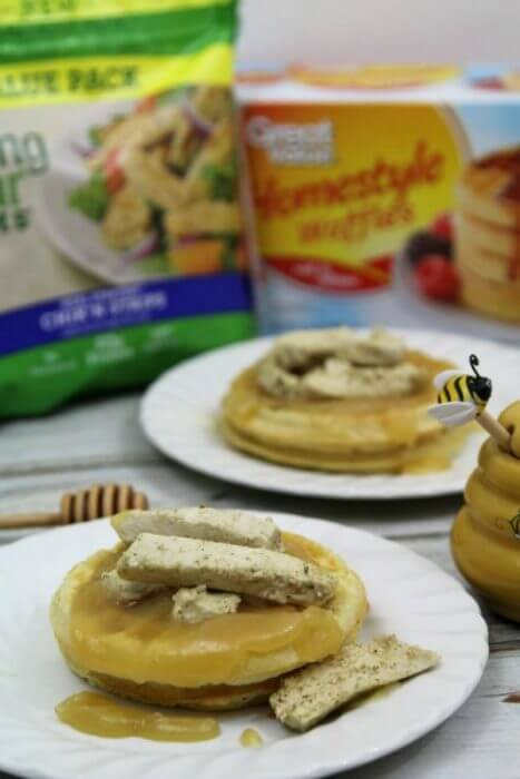 Honey butter syrup can be homemade in minutes and when added to waffles with chicken makes a delicious breakfast