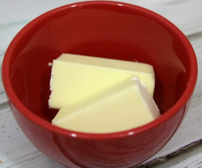 Start with a stick of butter to make honey butter syrup