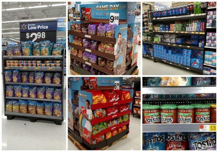 The big game day snack line up is all available at Walmart