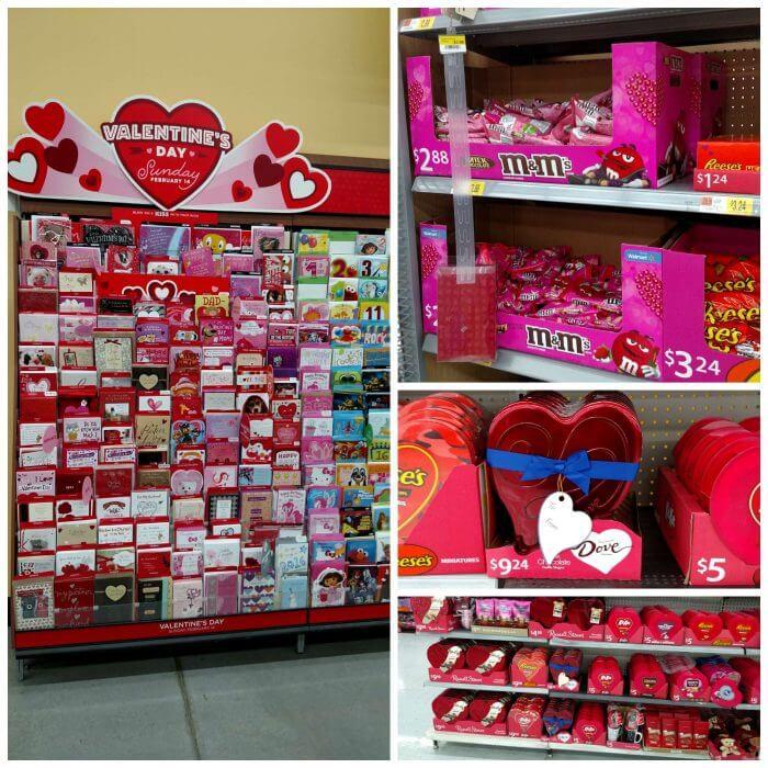 Valentine's Day chocolates at Walmart