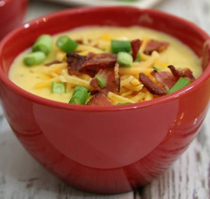 Warm up during the cold winter months with a bowl of steakhouse potato soup