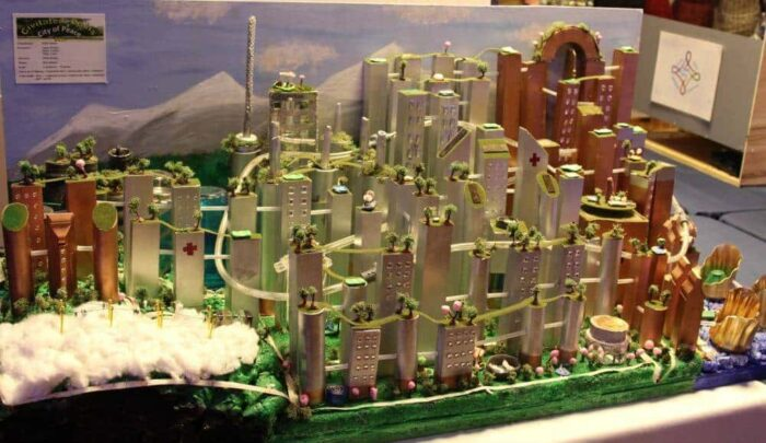 This is one of the awesome model cities at the Future City Competition
