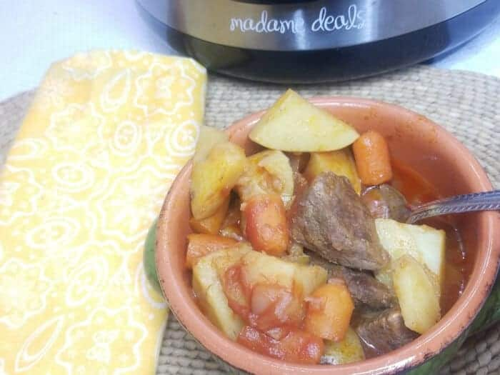 Prepare an easy one pot meal that's quick to make and so tasty. Try this Hearty Beef Stew Instant Pot Pressure Cooker Recipe